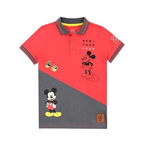 Disney Polo Camicia Mickey Mouse Per Bambini E Ragazzi {Multicolore 2-3 Anni}
