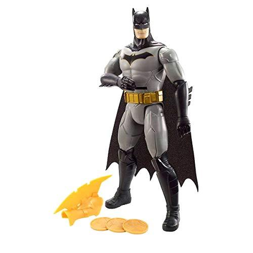 Mattel FVM67 DC Batman 30 cm Figur mit Wurfscheiben, Spielzeug Actionfiguren ab 4 Jahren