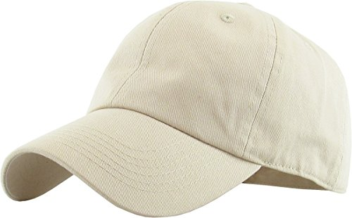 KB-LOW IVO Classic Cotton Dad Hat Adjustable Plain Cap. Polo Style Low Profile (Unstructured) (Classic) Ivory Adjustable