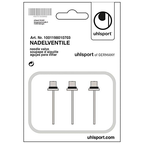 uhlsport Nadelventile-1001198010703 Pumpen Nadelventile, Silber, One Size