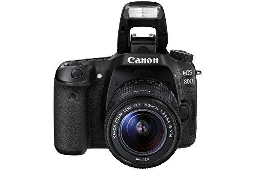 Canon Camara Digital Reflex EOS 80D + EF-S 18-135MM IS/CMOS/ 25.8MP/ DIGIC 6/45 Puntos Enfoque/NFC/WiFi
