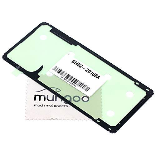 Klebefilm Akkudeckel für Samsung Original für Samsung Galaxy S10 Lite (G770F) Dichtung Kleber Adhesive mit mungoo Displayputztuch