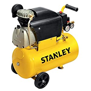 41H2 5DlJlL. SS300  - Stanley - Compresor Stanley D211/8/24 - Capacidad 24 litros - Motor 2 HP - Color Amarillo - Peso 24 kg