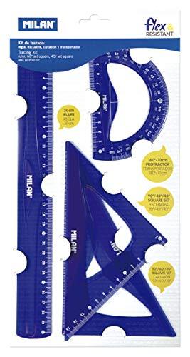 Milan 359801 - Kit de Trazado, Azul, Pequeño