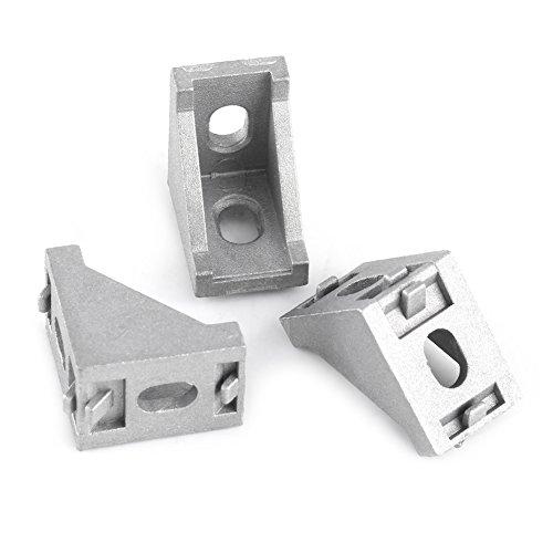 Angolo Bracketm, 10pcs Lega di Alluminio L Forma Angolo Staffa Angolo Retto Brace Fastener 28x28mm per Alluminio Estrusione Profilo