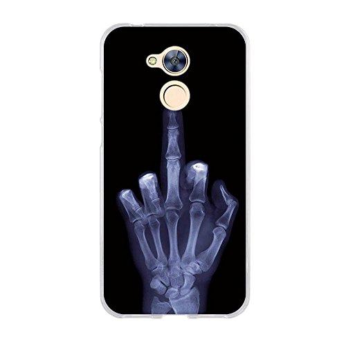 FUBAODA für Huawei Honor 6A Hülle,Hochwertiger Ultra Dünn TPU Silikon Schale, Kunst-Design[Berühre Mein Handy Nicht],Kratzfest Langlebig,Dauerhafter Schutz Hülle Handyhülle für Huawei Honor 6A