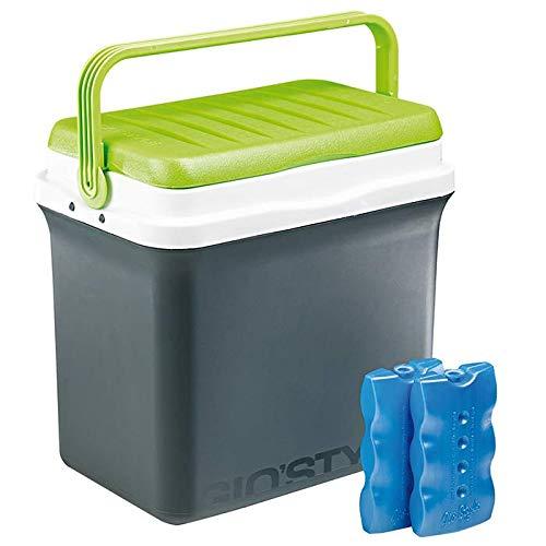 GioStyle Kühlschrankdose Passiv Ciao L mit Behälter, luftdicht, Blau, 29.5 l, 41 x 27.5 x 40 cm, Mehrfarbig
