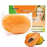 Papaya Hautaufhellungsseife, Skin Whitening Lightening Bleaching Seife, Papaya Whitening Seife für...