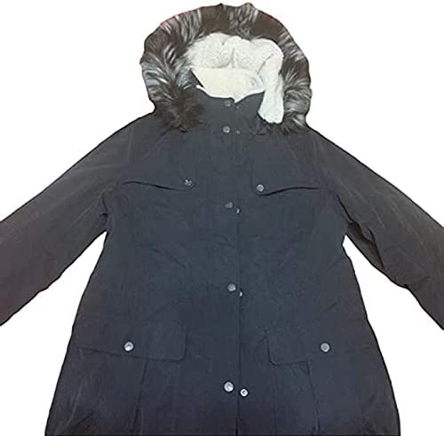 Sebby Collection Women's Faux Fur Hooded Quilted Jacket