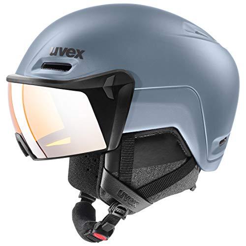 uvex Unisex– Erwachsene, hlmt 700 visor Skihelm, strato mat, 52-55 cm