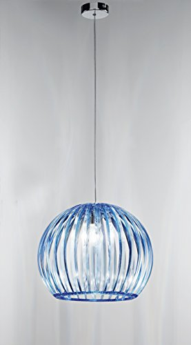 Lampadario a sospensione Perenz 5858 C Lampada da soffitto a sospensione realizzata in acrilico colore blu trasparente