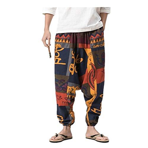 Pantaloni harem unisex in molti colori individuali - Pantaloni da uomo Harem Bloomers larghi Dance Beach Pantaloni casual di grandi dimensioni da Harem stampa retrò Aladdin Pantaloni da uomo