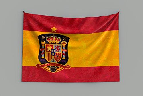 Oedim Bandera de España Campeona del Mundo | Especial Mundial 2018 Rusia 150x80cm | Bandera de España Resistente al Agua Reforzada y con Pespuntes | Ideal para Decoración