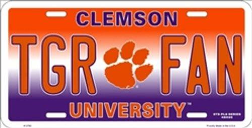NCAA University of Clemson TGR FAN Tigers Car License Plate Novelty Sign