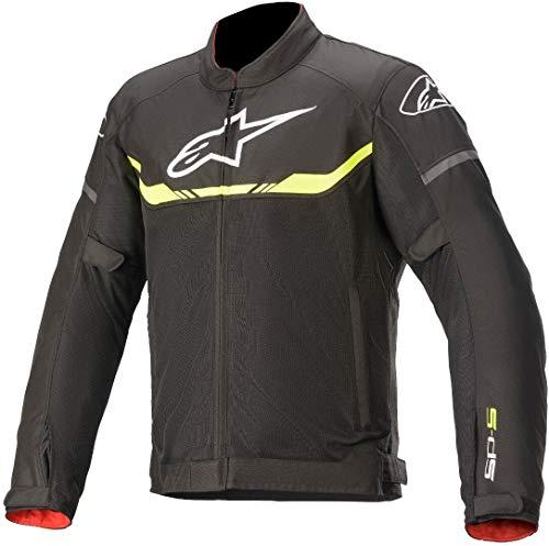 Alpinestars T-SPS Air - Chaqueta textil para moto, color negro/amarillo M