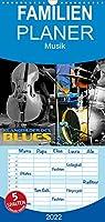 Klangbilder des Blues - Familienplaner hoch (Wandkalender 2022 , 21 cm x 45 cm, hoch): Stimmungsvolle Aufnahmen typischer Instrumente der Bluesmusik (Monatskalender, 14 Seiten )