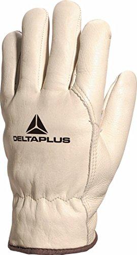Delta Plus FBF4910 Gefütterter Handschuh Ganz aus Rindsnarbenleder, Beige, 10
