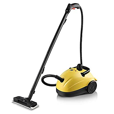 Linsion Muti-Popurse Steam Cleaner,70psi 1500w with High Pressure Spray Gun for Bathroom, Kitchen, Surfaces, Carpet, Car Seats and Floor Cleaning, Yellow