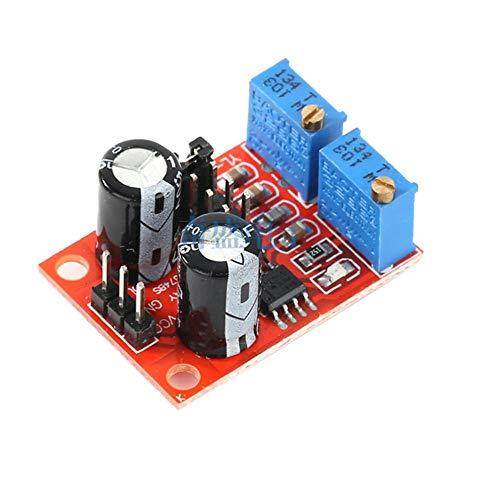 Ne555 Frecuencia de Pulso Ciclo de Trabajo Módulo Ajustable Onda Cuadrada Generador de señal de Onda Rectangular Generador de señal Paso a Paso - Rojo