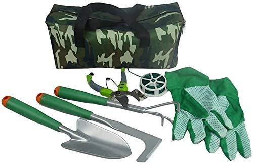 DX tuingereedschap Schep en Schop Set, tuingereedschap s Set Bloemen 8 Stuk Tuingereedschap Met Opslag Organizer Voor Outdoor Camping Wandelen Backpacking Jacht