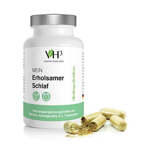 VH3 Mein Erholsamer Schlaf mit Ashwagandha Extrakt, L-Tryptophan und Melisse damit du wieder Erholt in den Tag starten kannst