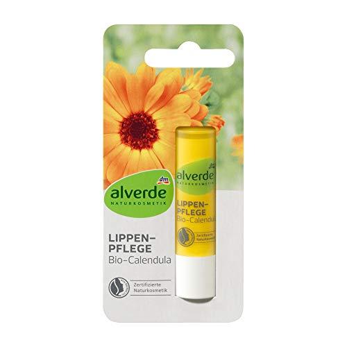 alverde NATURKOSMETIK Lippenpflege Bio-Calendula, 1 x 4,8 g