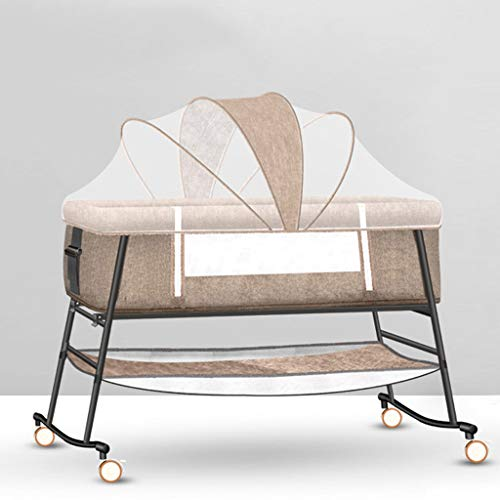 Cheapest Price! Cots Xinjin Bedside Sleeping Crib for Newborn Toddler, Side Sleeper Travel with Wash...