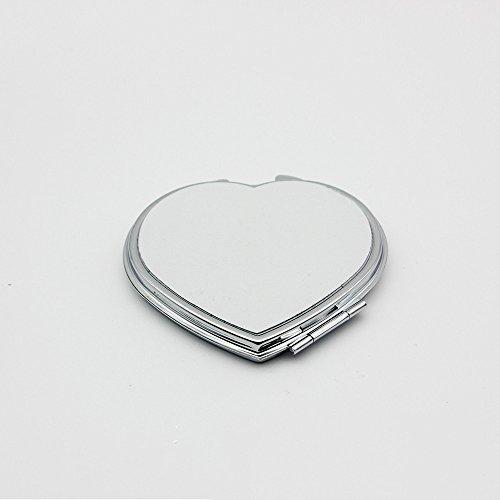 SYT Cosmetic mirror Miroir de Poche cosmétique de Maquillage en métal Inoxydable Compact de Mini de Miroir Se Pliant portatif de Formes pour des Outils de Maquillage, e