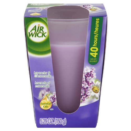 Air Wick Candles Frosted, Rich Lavender and Warm Velvet, 5.29-Ounce (Pack of 2)