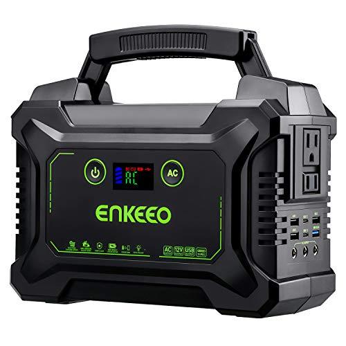 enkeeo ポータブル電源 大容量 S220 60000mAh/222Wh 家庭用蓄電池 USB出力6口 AC出力2口(300W) DC出力3口(180W) 11台機器同時充電可 急速充電QC3.0 Type-Cも搭載 多機種対応 三つの充電方法 ソーラ