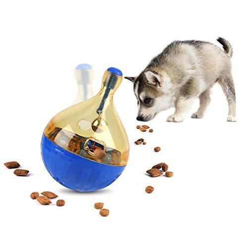 FREESOO Juguete Interactivo para Perros Bola de Comida para Perros Rompecabezas Juegos Dispensador de Golosinas Alimentador Lento para Perros Pequeños Cachorros Entrenamiento
