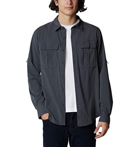 Columbia Newton Ridge Camisa de manga larga, Hombre, Shark, M