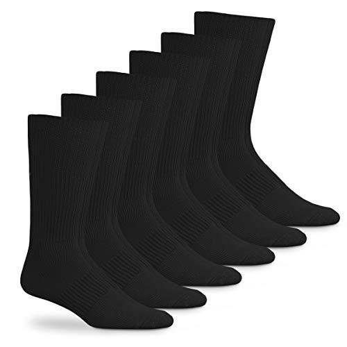 Jefferies Socks Mens Acrylic Mid Calf Dress Socks 6 Pair Pack (Sock Size 10-13 - Shoe Size 9-13, Black)