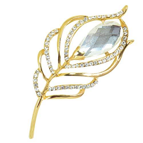 Hellery Broche Elegante Pin de La Solapa Pin Clip de La Bufanda para La Boda Fiesta de Aniversario Material de La Aleación Sin Alérgicos Sin Piel - 2