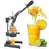 SUPER DEAL Manual Fruit Citrus Juicer Hand Press Juicer Juice Extractor Squeezer for Lemons, Limes and Oranges etc (Grey)