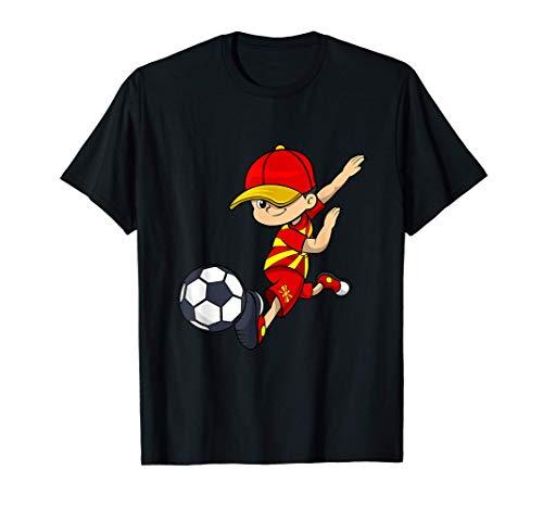 Mazedonien Trikot Fußball Jungen Flagge Makedonija T-Shirt