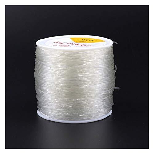 YJZZ Cable de abalorios0.5 0.8 1 mm de Alta Cuerda de cordón de Abalorios elásticos Hilo de Cristal for la fabricación de Joyas for el Collar de Bricolaje Accesorios de Pulsera