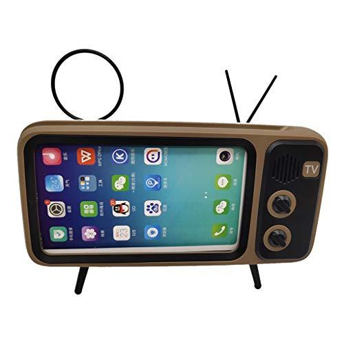 Elospy Altavoz Bluetooth inalámbrico con Soporte para teléfono móvil, TV, Sonido estéreo, Graves mejorados, Altavoz portátil para Smartphone, Manos Libres para Aprender a Disfrutar del hogar