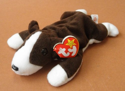 TY Beanie Babies Bruno the Pit Bull Dog Plush Toy Stuffed Animal by Unknown
