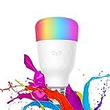 Ampoule LED E27, Original Yeelight Ampoule Couleur 10W 800lm 1700K-6500K Ampoule LED Dimmable RGB Télécommande Ampoule WiFi Fonctionne avec Google Assistant et Amazon Alexa [Multicolore Version 2018]