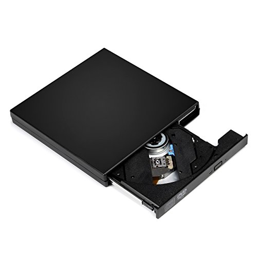 Salcar - Estern Masterizzare CD DVD Lettore CD Scrittura USB 2.0 DVD-R CD-RW Adattatore per Windows & MAC OS pour Apple/iMac/Macbook Pro/Macbook Air/Laptop/Desktops/PC - Nero