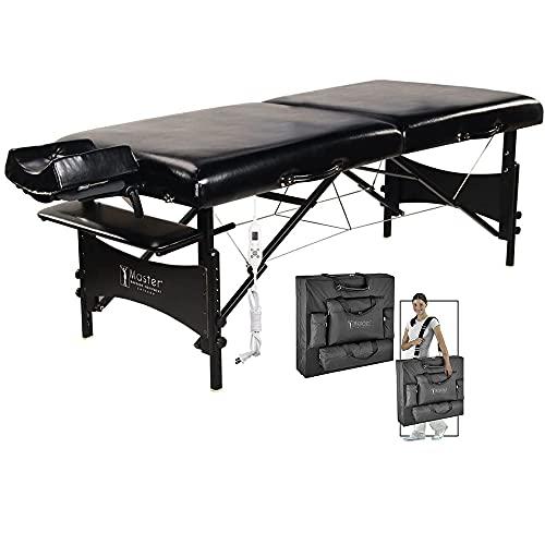 Master Massage 30 Inch Galaxy Heated Massage Table Portable, Folding Massage Bed with Heat...