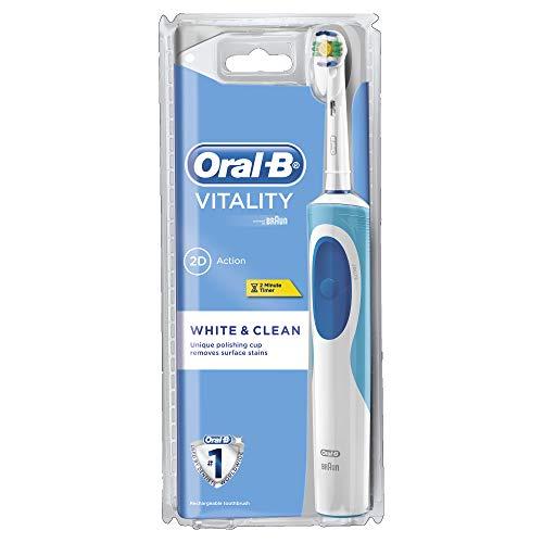 Oral-B Vitality White & Clean - Cepillo eléctrico, recargable