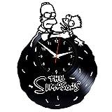 EVEVO Homer Simpsons Wanduhr Vinyl Schallplatte Re