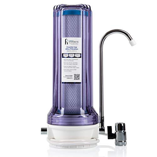 iFilters Countertop Ultra Drinking Water Filter for VOCs Cysts Pesticides Herbicides Chlorine Taste & Odor - Clear (CNTP-1C)