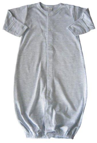 Kissy Kissy Baby Essentials Striped Convertible Gown-Gray-Newborn