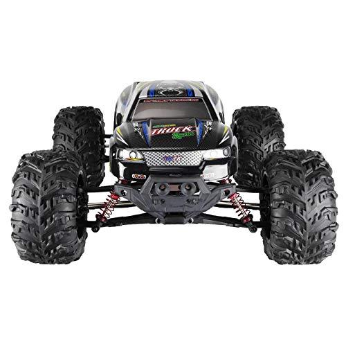 RC Auto kaufen Monstertruck Bild 4: RC Monstertruck 1:10 FPS V10 Offroad Elektro Auto - Dual Motor bis zu 50 km/h - 4WD - Allradantrieb, IPX4 Wasserdicht, 34cm, Differentiale, 2.4G Fernbedienung, 2 Speed Modes, inkl. 2x LiPo Akku, 4x AA*