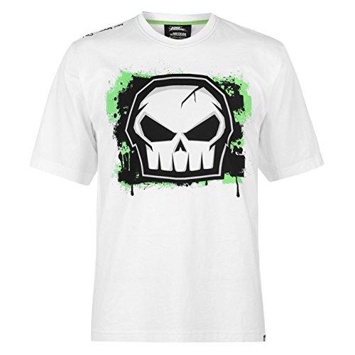 No Fear Herren Sportshirt Core Graph T-Shirt Kurzarm Rundhals Tee Top Bekleidung Weiss M