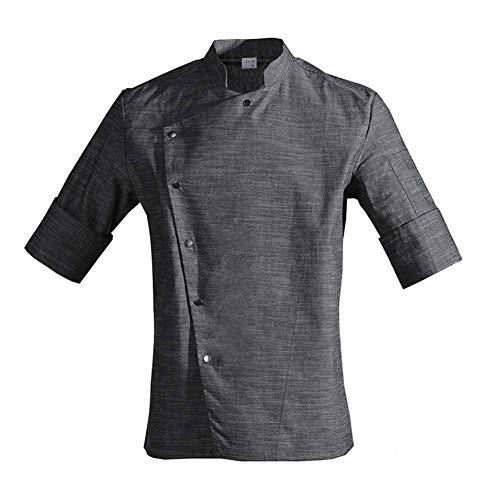 Unisex-Overall, japanischer Korea-Stil, mittellanger Ärmel, für Köche und Kellner, Arbeitskleidung, Restaurant, L