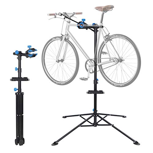 """F2C Portable Adjustable 42.5"""" to 74"""" Pro Home Steel Maintenance Mechanic Bicycle Bike Repair Tool Rack Stands Workstand w/Telescopic Arm, Tool Tray& Balancing Pole Cycle Bicycle Rack"""